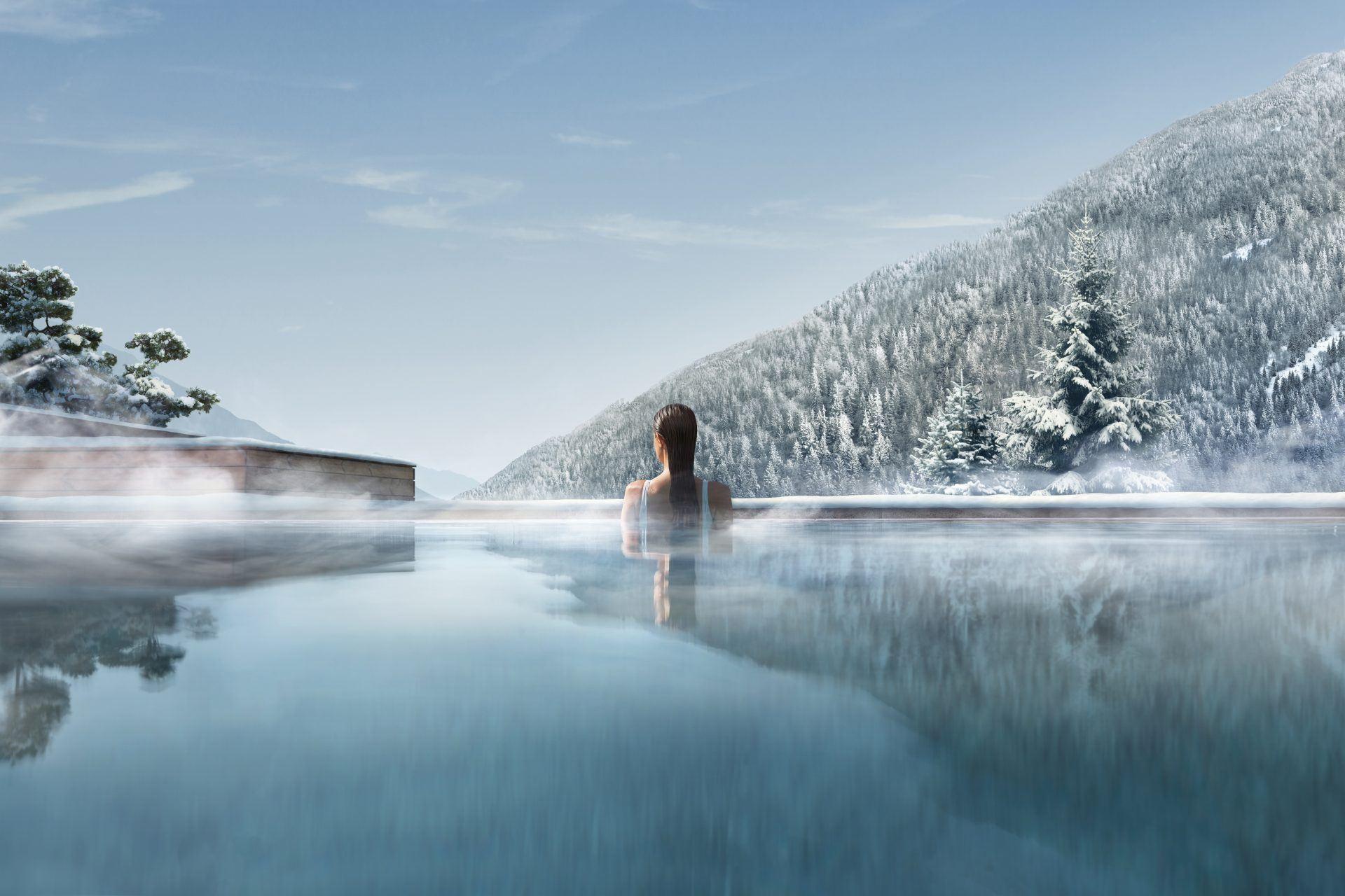 7 PISCINA INTERNA ESTERNA WINTER OUTDOOR 1920x1280 - Lefay Resort & SPA Dolomiti, Dolomiten