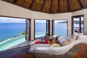 laucala island peninsula villa lounge view 300x200 - Laucala Island, Fidschi