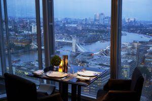 Shangri La Hotel At The Shard London TING Restaurant Table With View 300x200 - Shangri-La The Shard, London