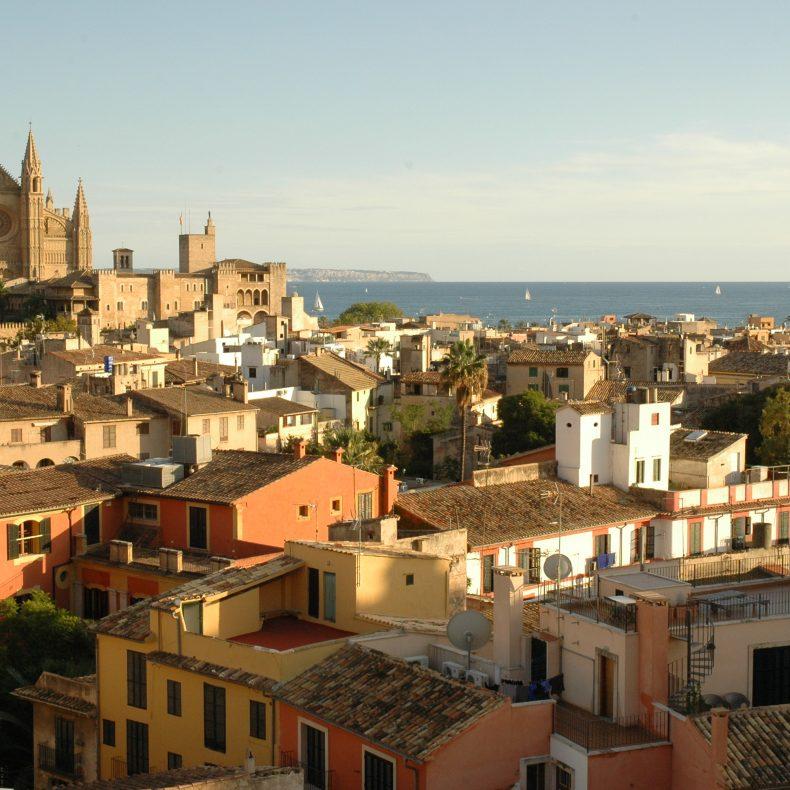 Palma de Mallorca Blick auf Bucht