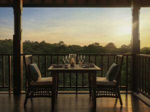 Raffles Bali Sonnenuntergang